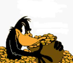 Daffy with his horde of gold!